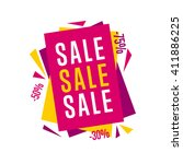 sale tag bitmap isolated. sale... | Shutterstock . vector #411886225