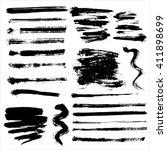 vector grunge brushes | Shutterstock .eps vector #411898699