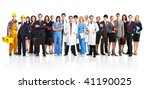large group of smiling workers... | Shutterstock . vector #41190025