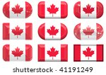 nine glass buttons of the flag... | Shutterstock . vector #41191249