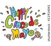 an image of a happy cinco de... | Shutterstock .eps vector #411914041
