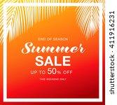 summer sale template banner | Shutterstock .eps vector #411916231