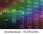 financial data on a monitor.... | Shutterstock . vector #411921451