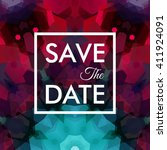 square shaped save the date... | Shutterstock .eps vector #411924091