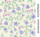 cute hand drawn floral print  ... | Shutterstock .eps vector #411929065