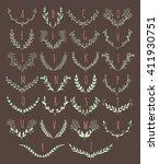 vector floral monogram... | Shutterstock .eps vector #411930751