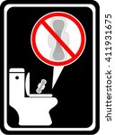 no sanitary pads down the... | Shutterstock .eps vector #411931675