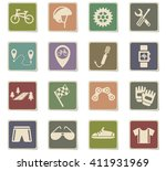 bicycle web icons for user... | Shutterstock .eps vector #411931969