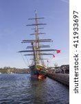 sailing ship in baltimore harbor | Shutterstock . vector #411933697