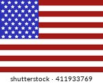 american flag isolated on a... | Shutterstock .eps vector #411933769