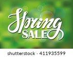 spring design handwriting... | Shutterstock . vector #411935599