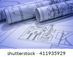 part of engineering project | Shutterstock . vector #411935929