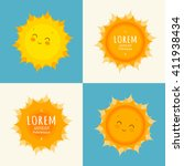 Set Of Funny Sun Icon...