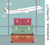 travel luggage in the airport... | Shutterstock .eps vector #411940177