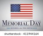 honoring all who served banner... | Shutterstock .eps vector #411944164