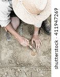 Paleontologist Working In The...