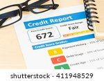fair credit score report with... | Shutterstock . vector #411948529