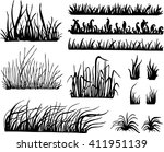 grass vector   isolated on... | Shutterstock .eps vector #411951139