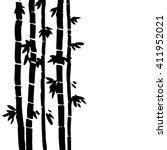 Monochrome  Bamboo Grove  Fres...