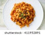 Macaroni Pasta In Tomato Sauce...
