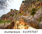 Lycian Rock Cut Tombs Carved...