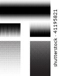 halftone patterns black and... | Shutterstock .eps vector #41195821
