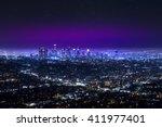 Aerial View Of Los Angeles...