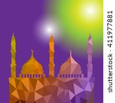 beautiful religious eid... | Shutterstock .eps vector #411977881