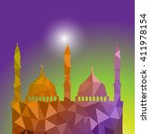 beautiful religious eid... | Shutterstock .eps vector #411978154