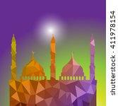 beautiful religious eid... | Shutterstock .eps vector #411978154