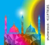 beautiful religious eid... | Shutterstock .eps vector #411978181