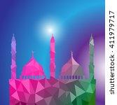 beautiful religious eid... | Shutterstock .eps vector #411979717
