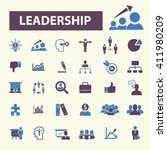 leadership icons    Shutterstock .eps vector #411980209