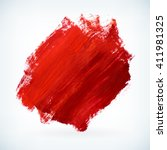 red paint artistic dry brush... | Shutterstock .eps vector #411981325