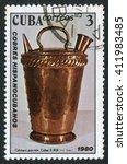 cuba   circa 1980  a stamp... | Shutterstock . vector #411983485