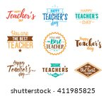 happy teachers day vector... | Shutterstock .eps vector #411985825