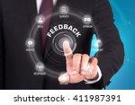 feedback technology... | Shutterstock . vector #411987391