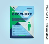 corporate brochure flyer design ... | Shutterstock .eps vector #411987961