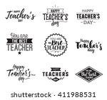 happy teachers day vector... | Shutterstock .eps vector #411988531