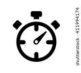 stopwatch chronometer black... | Shutterstock .eps vector #411994174
