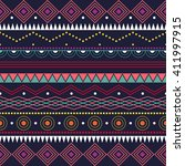 colorful ethnic patterns.... | Shutterstock .eps vector #411997915