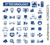 it technology icons  | Shutterstock .eps vector #412002271