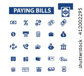paying bills icons    Shutterstock .eps vector #412002295
