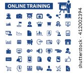 online training icons  | Shutterstock .eps vector #412002394