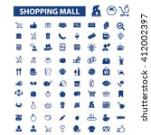 shopping mall icons  | Shutterstock .eps vector #412002397