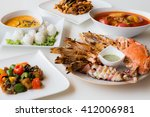 seafood dishes and thailand | Shutterstock . vector #412006981