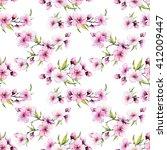 watercolor pattern spring ... | Shutterstock . vector #412009447