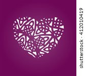 set of laser cut heart labels.... | Shutterstock .eps vector #412010419