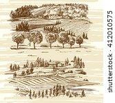 rural landscape | Shutterstock .eps vector #412010575