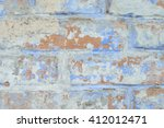 brick texture with scratches... | Shutterstock . vector #412012471
